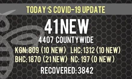 41 New COVID-19 Cases