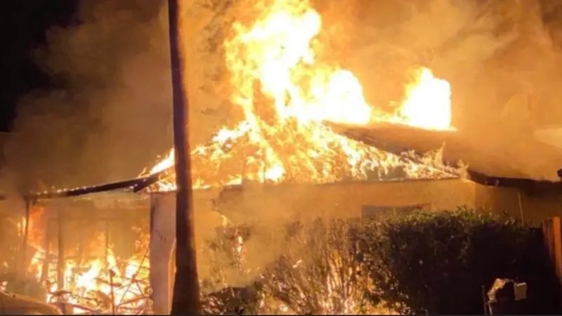 House and Business Destroyed by Blaze