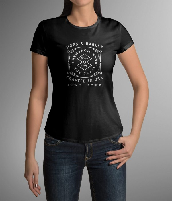 Buy Hops & Barley The Craft Beer Movement Women's T-Shirt ...