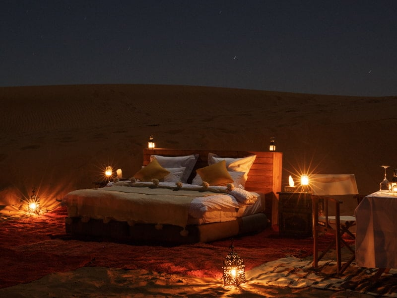 Sleeping Under the Stars Sahara Morocco