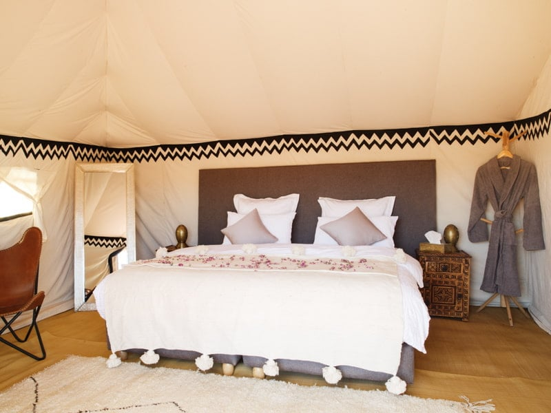 Kingsize Bed at the Morocco Desert Camp