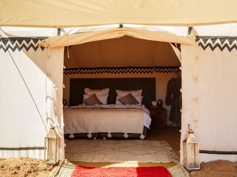 Entrance to Main Bedroom of Luxury Morocco Tent Suite