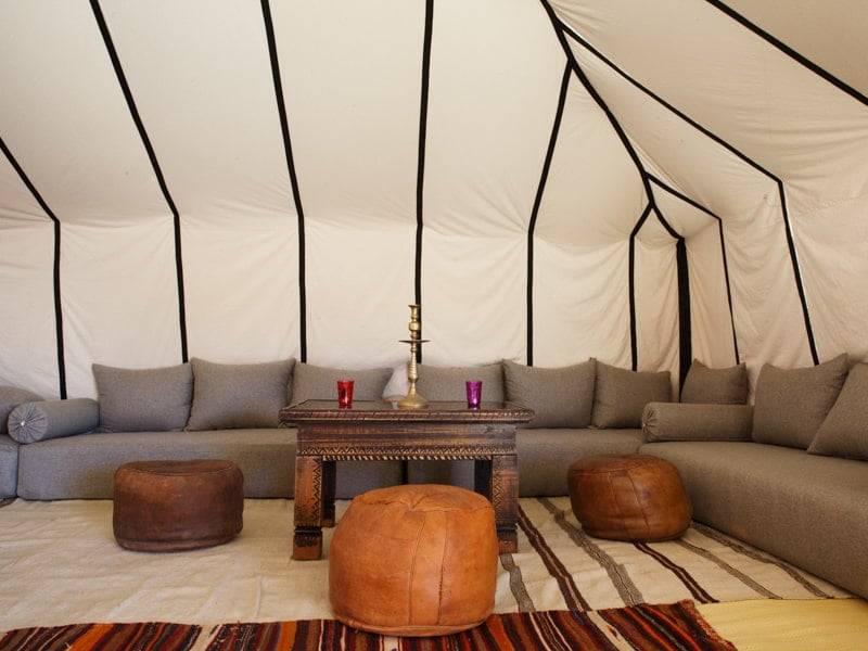 Lounge Sofa and Seating in Luxury Desert Camp Morocco