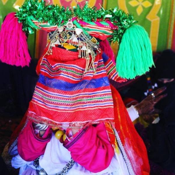 Berber Bride at the Moroccan Festival of Marriage in Imilchil, Atlas Mountains