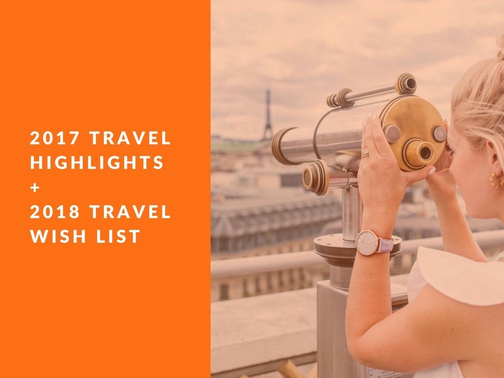 2017 TRAVEL HIGHLIGHTS