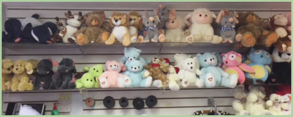 Image result for stuffed animals on shelf