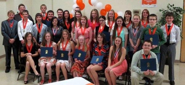 GMS honorees honored at academic banquet