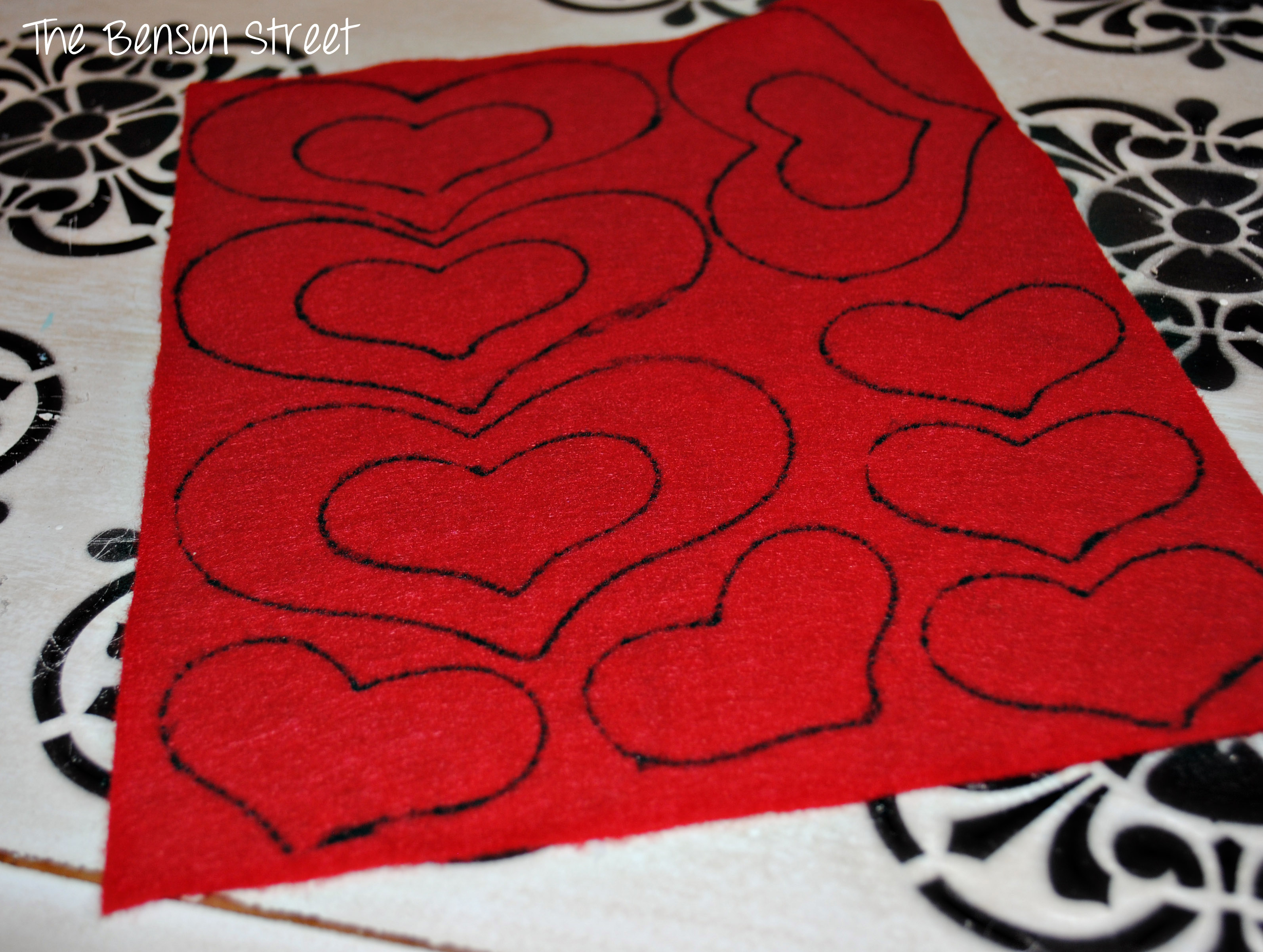 Felt Heart Table Runner2