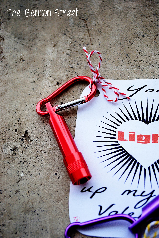 Flashlight Valentine Printable at The Benson Street4