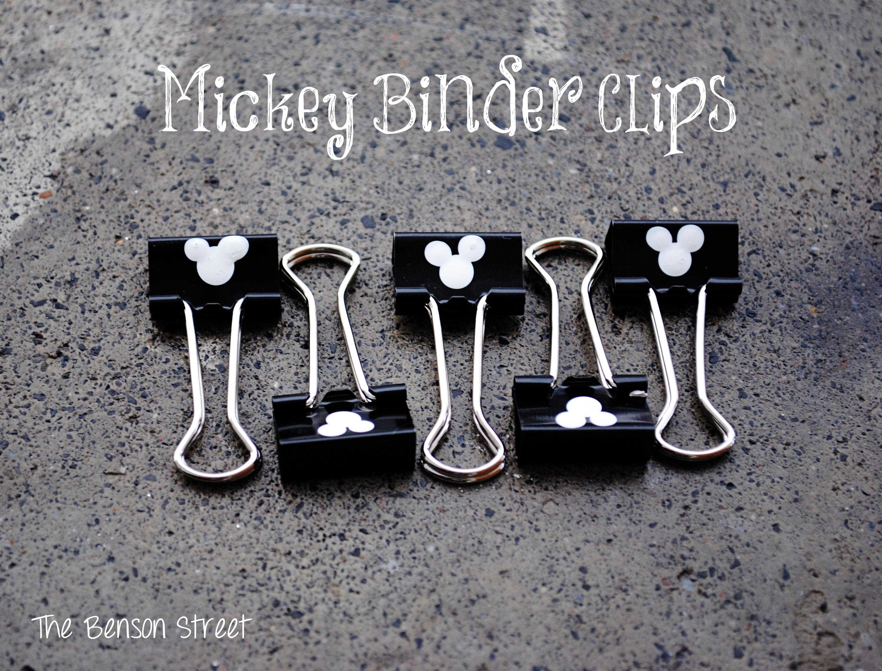 Mickey Binder Clips Small