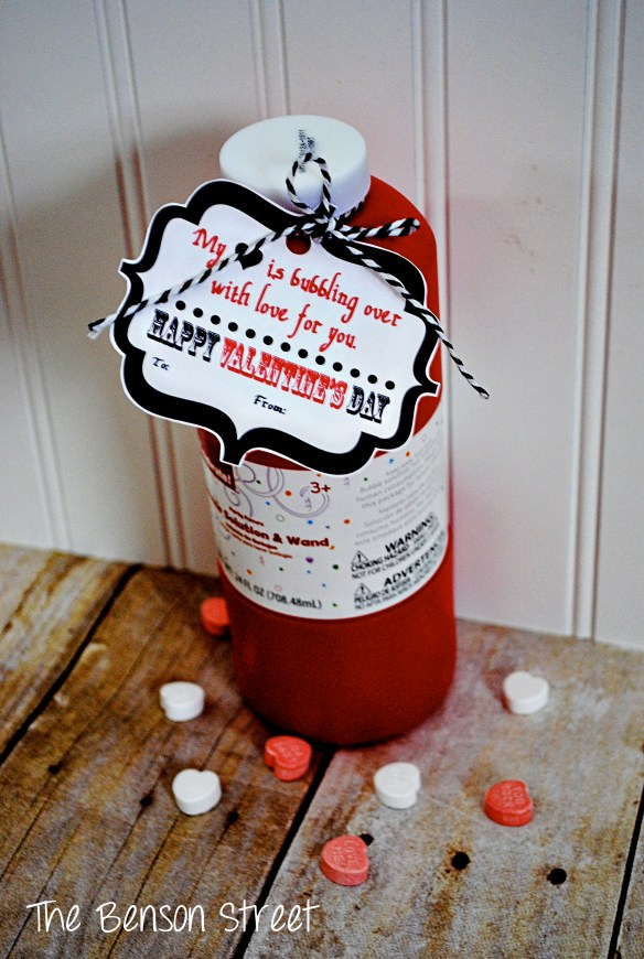 Bubbles Valentine Printable at The Benson Street2
