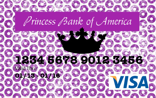 Princess Debit Card