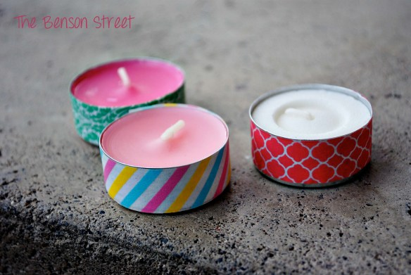 Washi Tea Lights at www.thebensonstreet.com