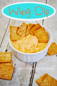 Yummy Wing Dip at www.thebensonstreet.com #dip #hotsauce #recipe #appetizer