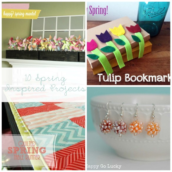 10 Spring Inspired Projects at www.thebensonstreet.com #spring #projects #diy