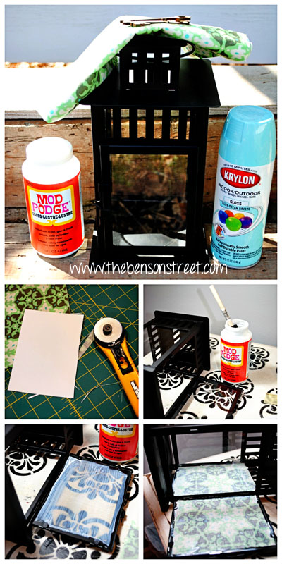 Upcycled Lantern Tutorial at www.thebensonstreet.com