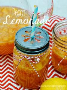 Peach Lemonade at www.thebensonstreet.com