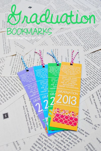Printable Graduation Bookmarks at www.thebensonstreet.com