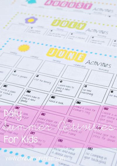 Summer Activites Calendar at www.thebensonstreet.com
