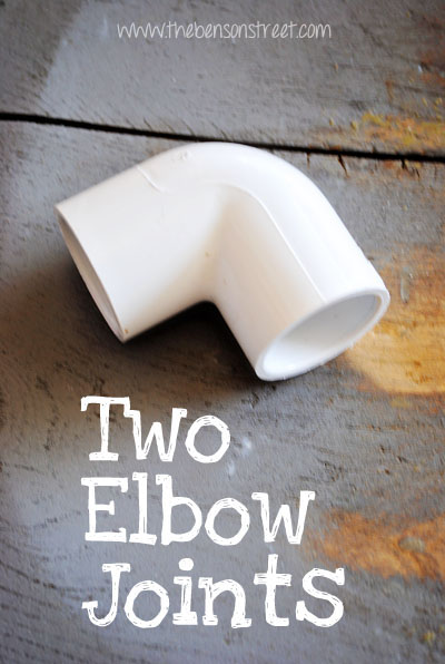 DIY Photo Booth Elbow Joints at www.thebensonstreet.com