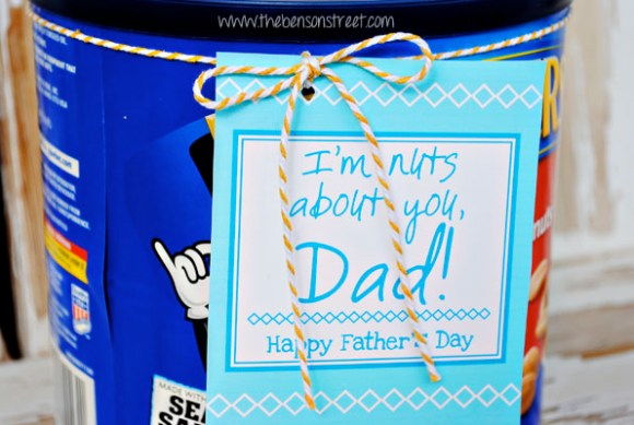 Printable Nut Father's Day Tag at www.thebensonstreet.com