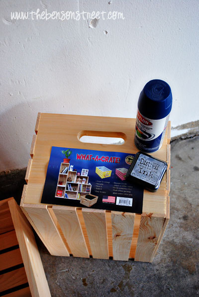 Painting Wooden Crate Ideas Christmas Ornaments
