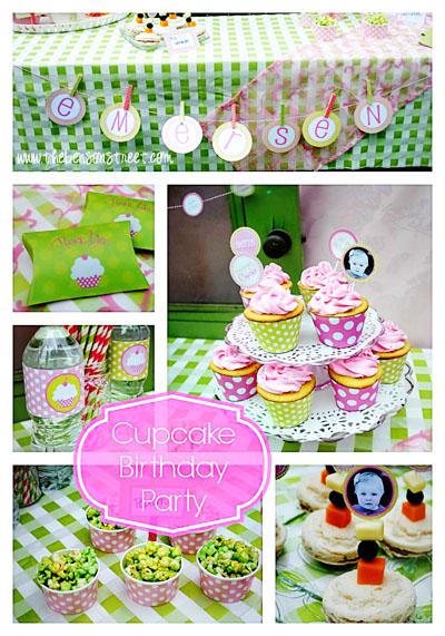 Cupcake Birthday Party Ideas at www.thebensonstreet.com