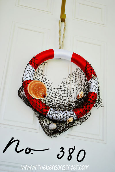 Life Preserver Beach Style Wreath at www.thebensonstreet.com