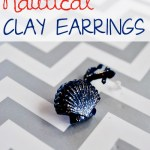 Nautical Clay Earrings