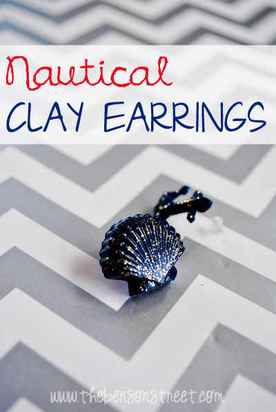 Nautical Clay Earrings at www.thebensonstreet.com