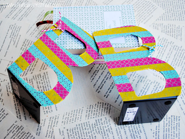 Washi Covered Bookends at www.thebensonstreet.com