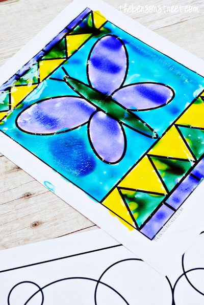 Colorful Stained Glass Paintings for kids at www.thebensonstreet.com