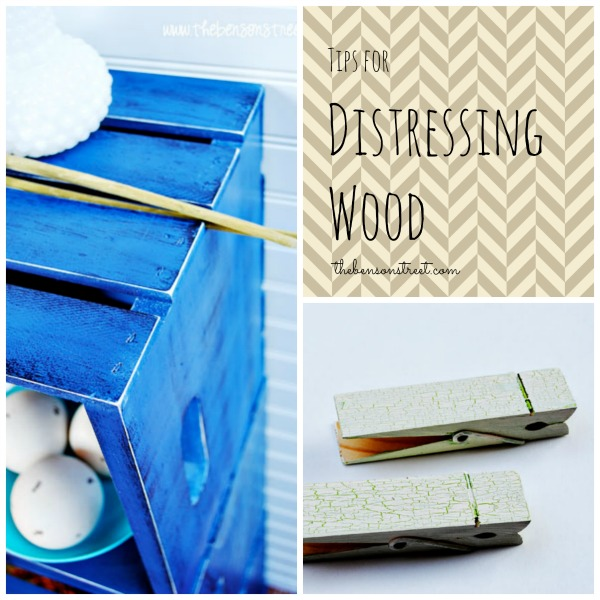 Tips for Distressing Wood at thebensonstreet.com