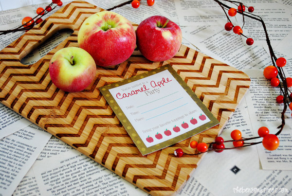 Caramel Apple Party Printable at thebensonstreet.com