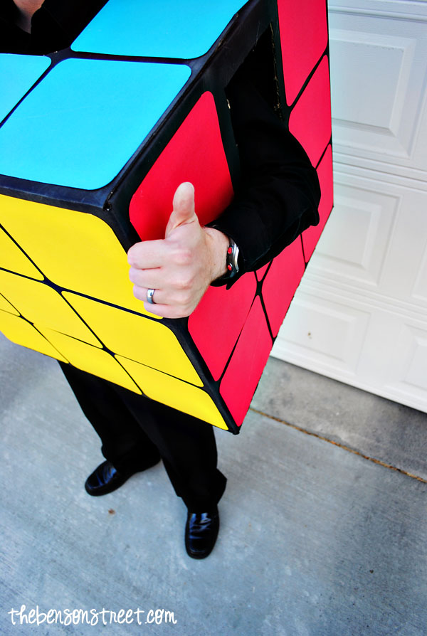 Homemade Rubik's Cube Costume at thebensonstreet.com