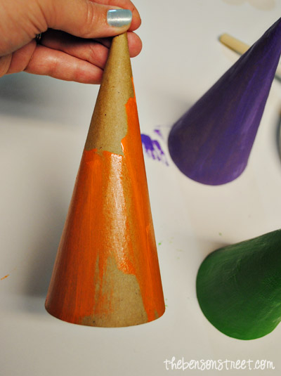 Painted Witch Hats at thebensonstreet.com