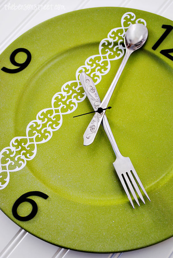 Silverware Kitchen Clock at thebensonstreet.com