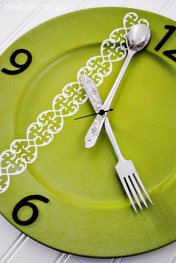 Silverware Kitchen Clock at thebensonstreet.com
