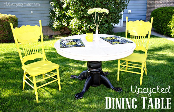 Upcycled Dining Table Tutorial at thebensonstreet.com