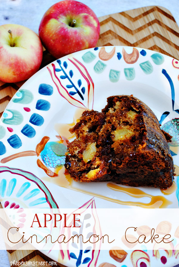 Apple Cinnamon Bundt Cake at thebensonstreet.com