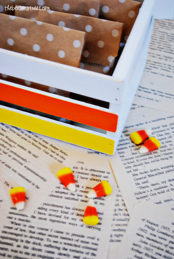 Cute Candy Corn Crate Idea at thebensonstreet.com