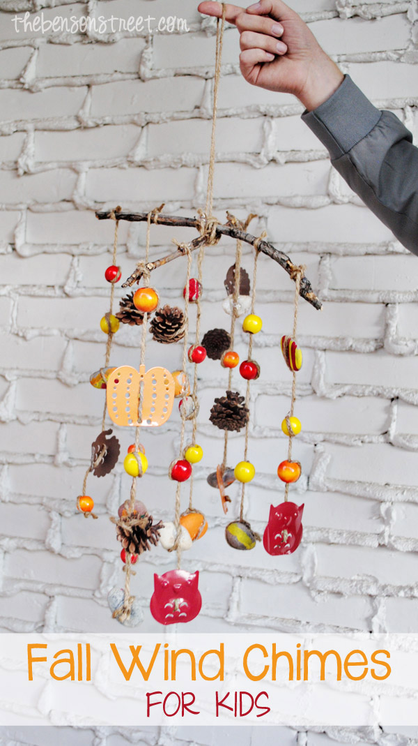 Fall Wind Chimes Craft for Kids