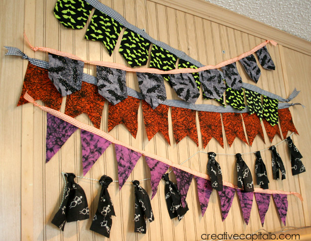 Halloween Garlands with ten dollars and one hour!