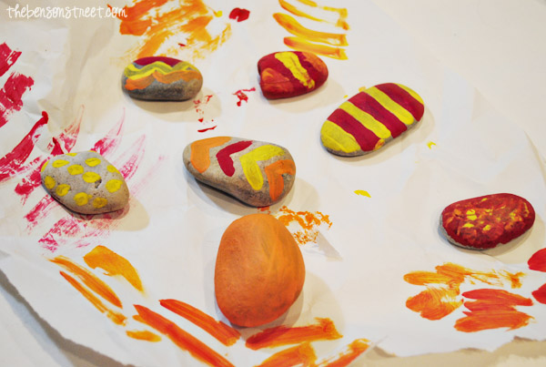 Painted Rocks For Fall Wind Chimes Kids At Thebensonstreet
