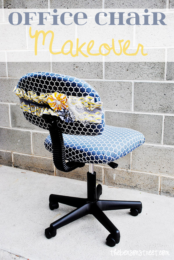 Super adorable office chair makeover at thebensonstreet.com