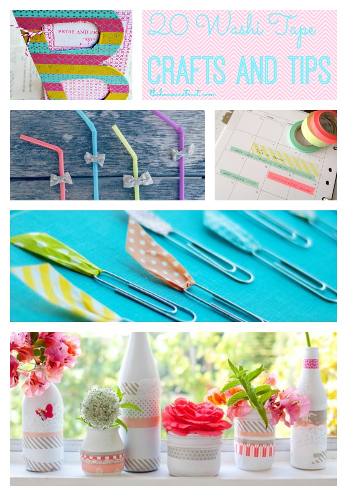 20 Washi Tape Crafts and Tips at thebensonstreet.com