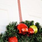 Candy Cane Washi Tape Wreath Hanger