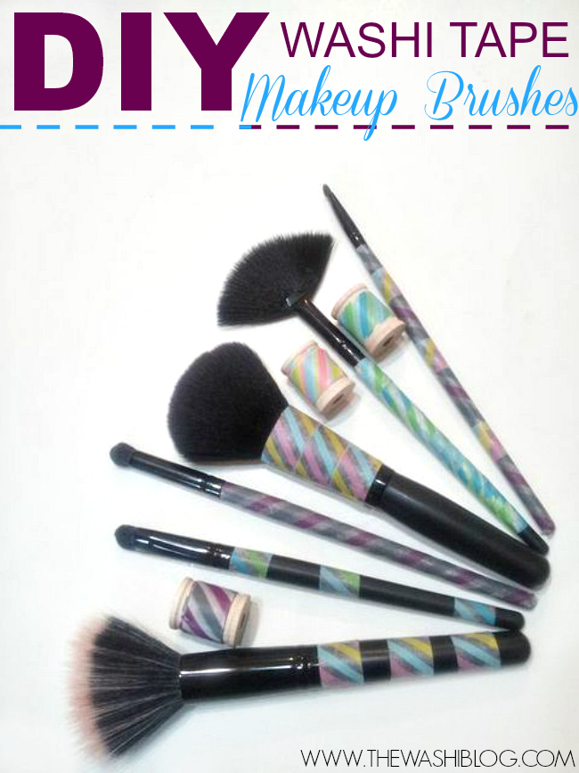 DIY-Washi-Tape-Makeup-Brushes