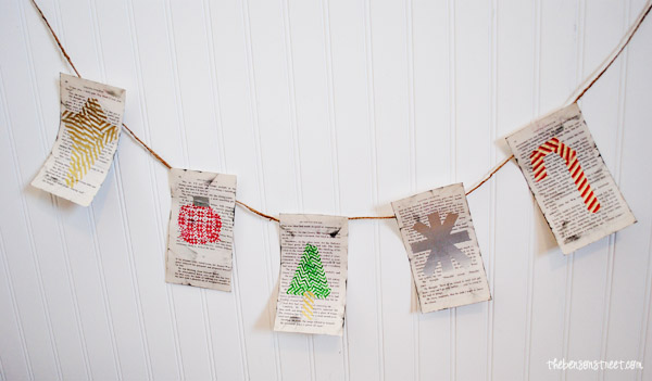Christmas Book Page Vintage Banner at thebensonstreet.com