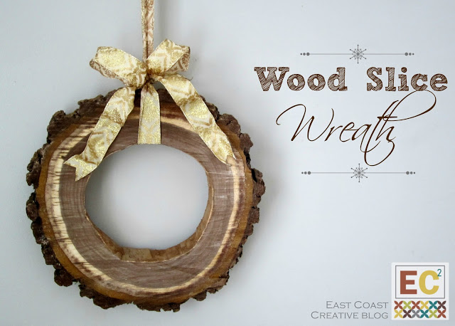wood slice wreath